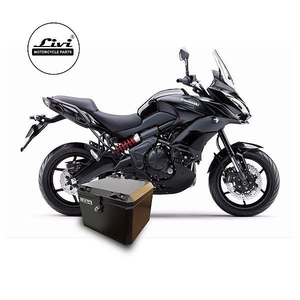 Baú Central Top Case 43 Litros Livi Exclusivo Para Moto Versys 650 2016 em diante + Suporte.