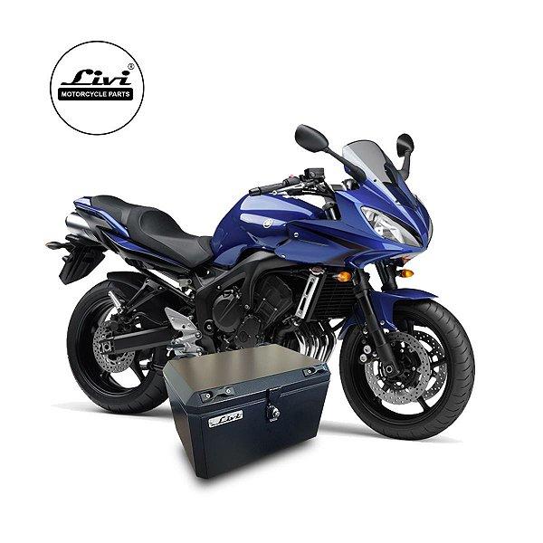 Baú Central Top Case 50 Litros Livi Exclusivo Para Moto Fazer 600 + Suporte.