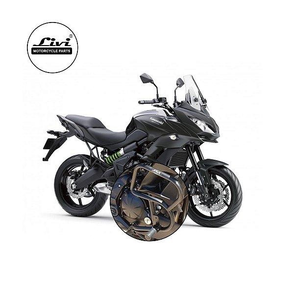 Protetor de Motor e Carenagem Livi  Versys 650 Kawasak 2016 - 2020 com pedaleiras.