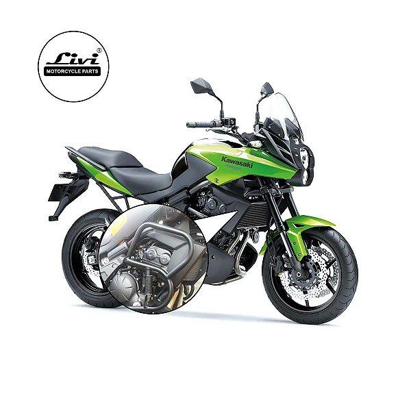 Protetor De Motor Kawasaki Versys 650 até 2015 com pedaleiras.