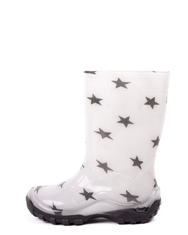 Galocha Infantil Estrelas Nieve Cristal/Preto INF013