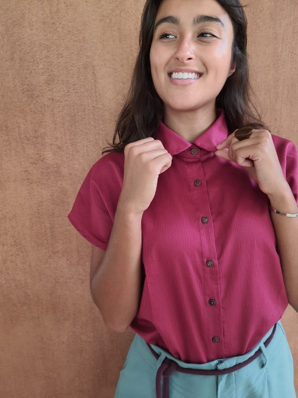 Camisa algodão maquinetado