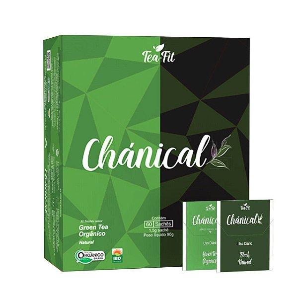 CHÁNICAL GREEN TEA ORGÂNICO E BLACK NATURAL CX COM 60 SACHÊS