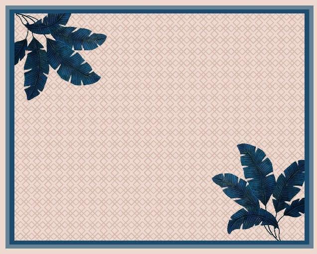 Pareô Mirtilo Beachwear - Folhagem Azul