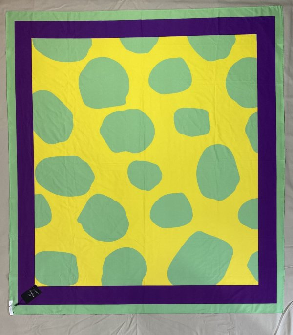 Pareô Mirtilo Color Block Amarelo