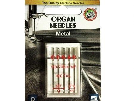 Agulha Organ Metal 90/14 e 100/16 para Máquinas de Bordado e Costura Doméstica