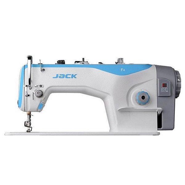 Máquina de Costura Reta Industrial Jack F4 Direct Drive com Kit Calcadores + Bobinas + Agulhas