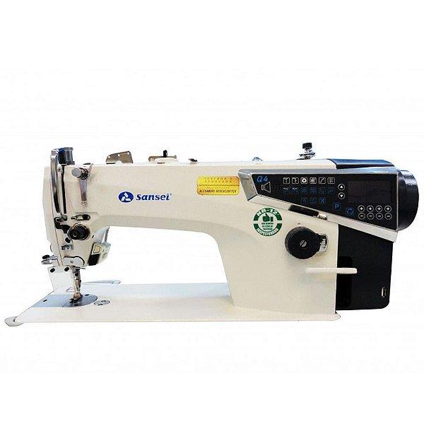 Máquina de Costura Reta Industrial Sansei SA-MQ4 Direct Drive com Kit Calcadores + Bobinas + Agulhas