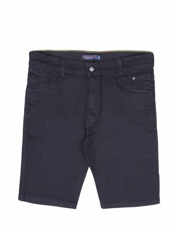 bermuda jeans plus size prs preta