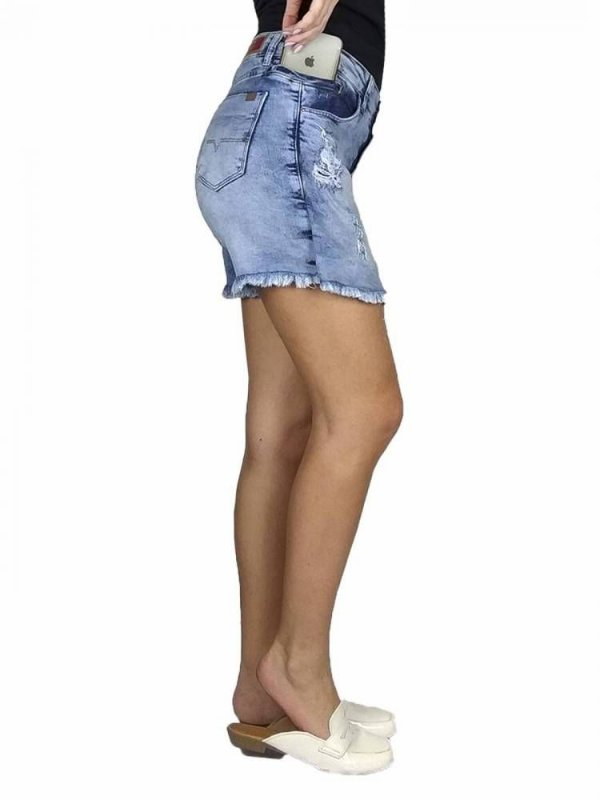 SHORTS SAIA JEANS PRS DESTROYED