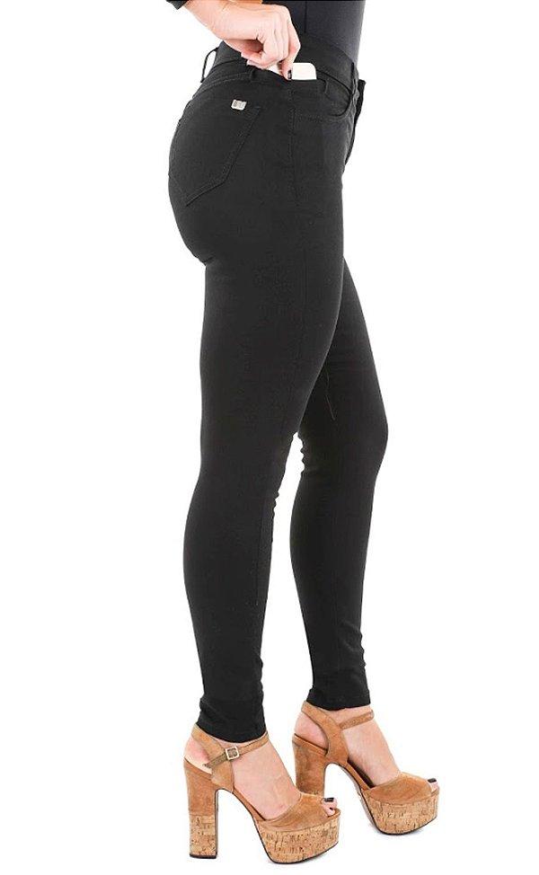 calça sarja prs skinny preta