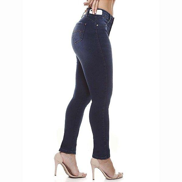 calça jeans prs skinny marinho