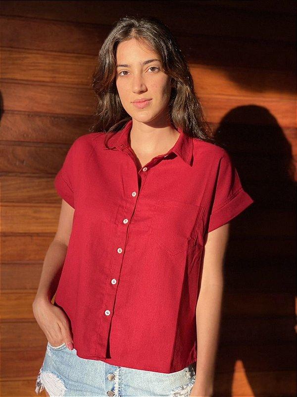 Camisa Clio Borgonha