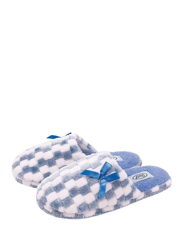 Pantufa Feminina Gasf 182373 Azul - Grade c/12 pares
