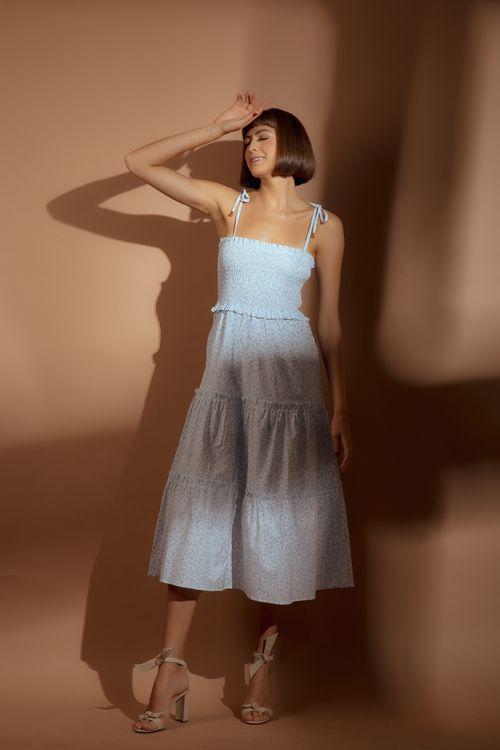 Vestido Liberty Azul