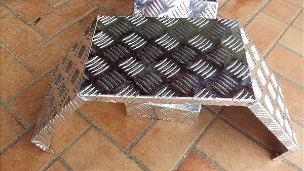 Paralamas em alumínio chapa xadrez