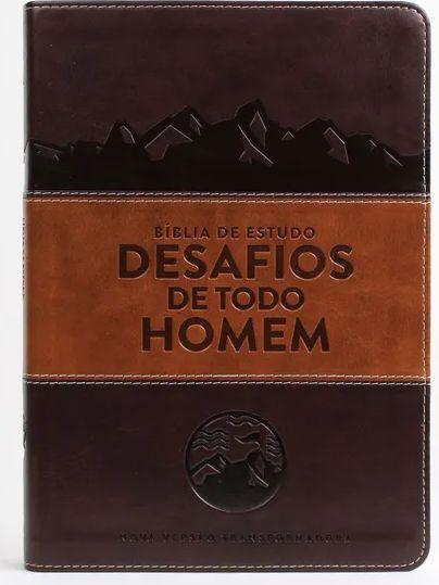 Bíblia de Estudo o Desafios de Todo Homem NVT  Marrom 