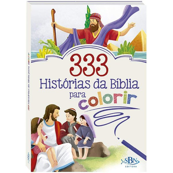 LIVRO 333 HISTORIAS DA BIBLIA PARA COLORIR