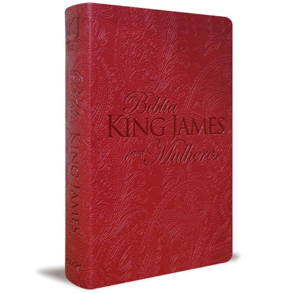 BIBLIA KING JAMES PARA MULHERES VERMELHA