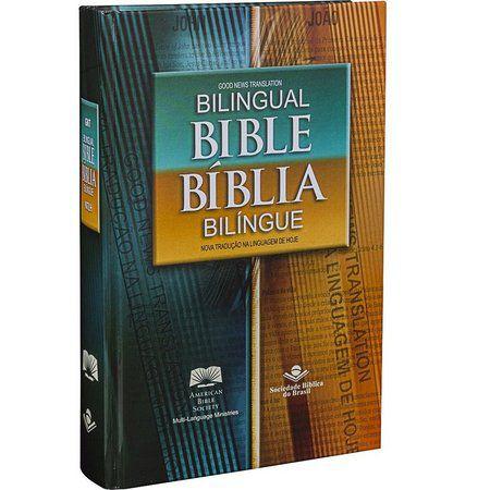 BIBLIA BILINGUE PORTUGUES INGLES CAPA DURA  NTLH