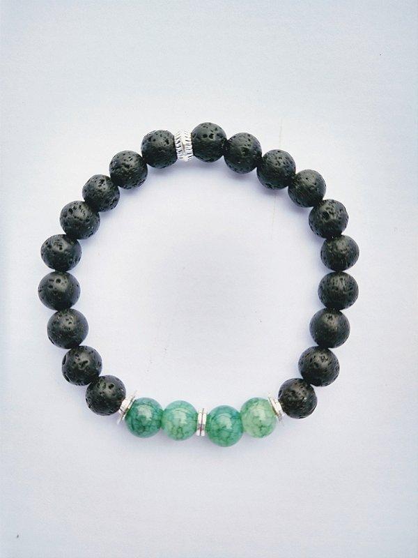 Pulseira de Pedras Naturais Verde Natural