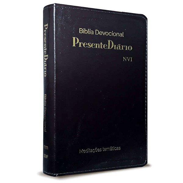 BIBLIA DEVOCIONAL NVI PRESENTE DIARIO LUXO PRETA