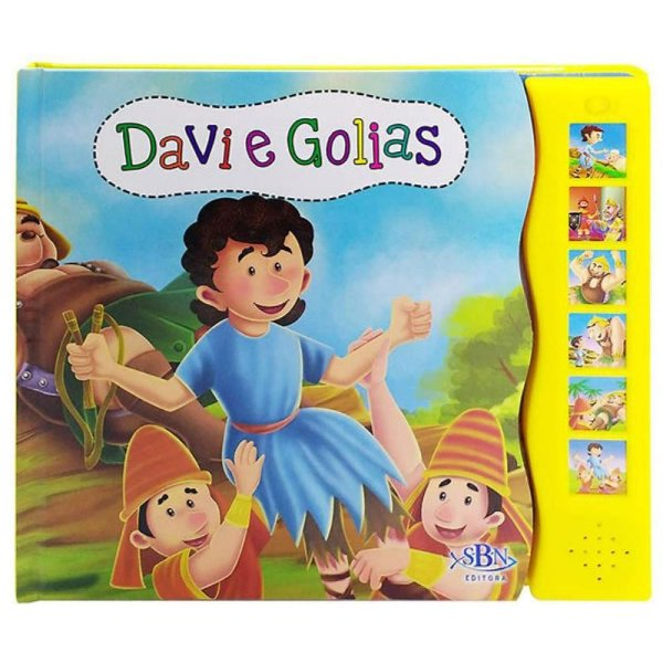 LIVRO SONORO HISTORIAS DA BIBLIA DAVI E GOLIAS