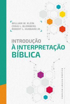 Livro Introdução À interpretação Bíblica