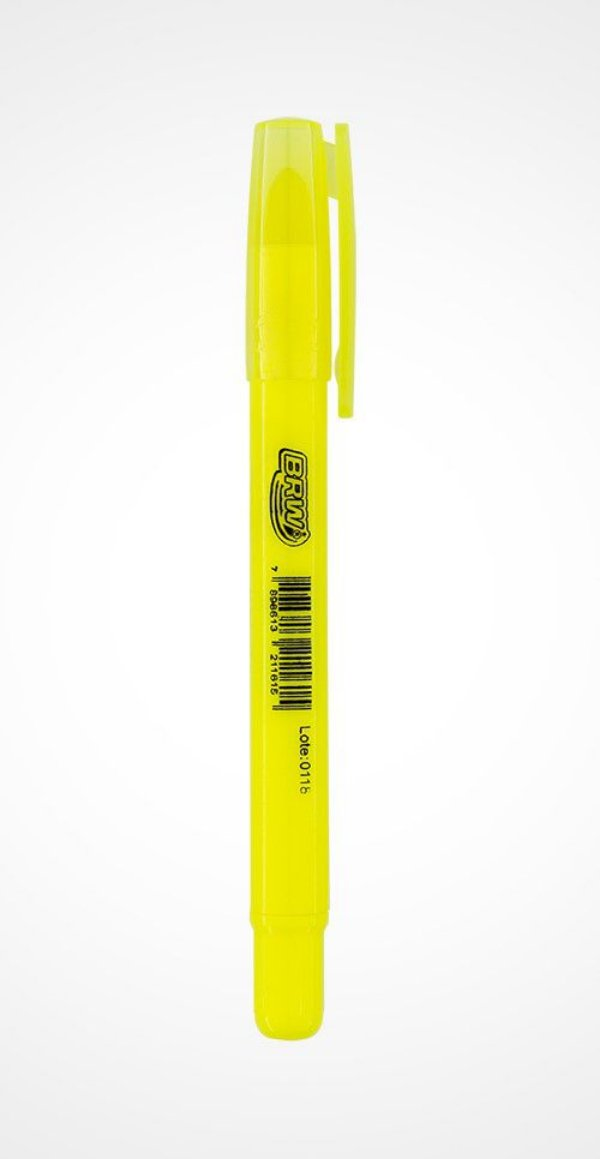 Caneta Marca Texto escrita em Gel Amarelo|BRW|
