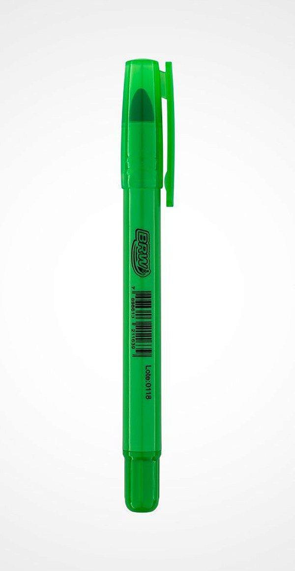 Caneta Marca Texto escrita em Gel Verde|BRW|