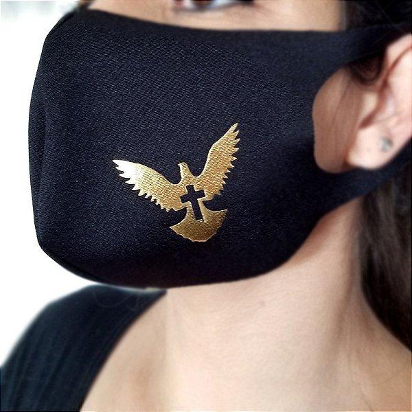Máscara de proteção Higiênica reutilizável  Pomba Cruz 