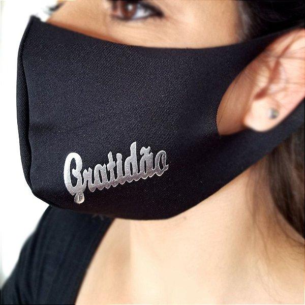 Máscara de proteção Higiênica reutilizável  Gratidão 