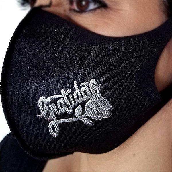 Máscara de proteção Higiênica reutilizável |Gratidão flor|