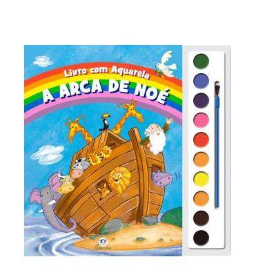 Livro com Aquarela A Arca de Noé