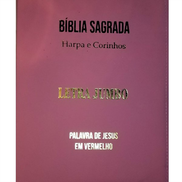 Bíblia Sagrada Harpa e Corinhos |Letra JUMBO| Rosa|