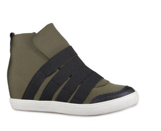 Sneaker Feminino Rebeca Verde Militar - Neoprene