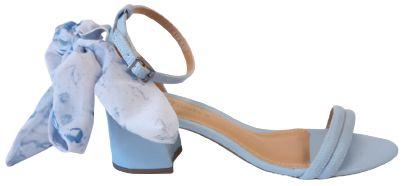 Sandália Salto Bloco Azul Melissa