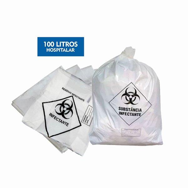 Saco para Lixo Hospitalar Infectante 100 Litros - Dr. Luvas