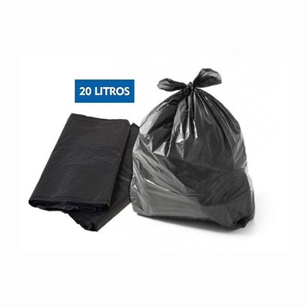 Saco para lixo 20 Litros Preto Pct C/ 100 Unidades - Dr. Luvas