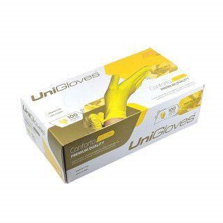 Luva de Procedimento Latex Sem Pó Yellow  - Unigloves