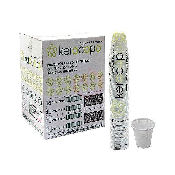 Copo Transparente 180ml (25 pacotes x 100 unidades) - Kerocoppo