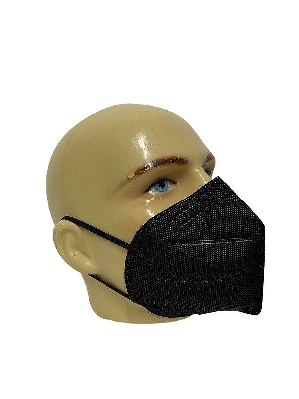 Máscara de Proteção KN95 Preta Pct c/ 2 Unds -  Supermedy
