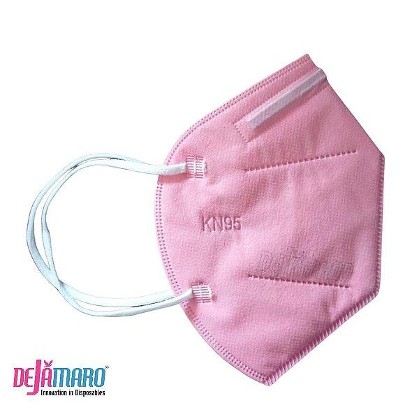 Mascara de Proteção KN95 PFF2 Rosa - Dejamaro