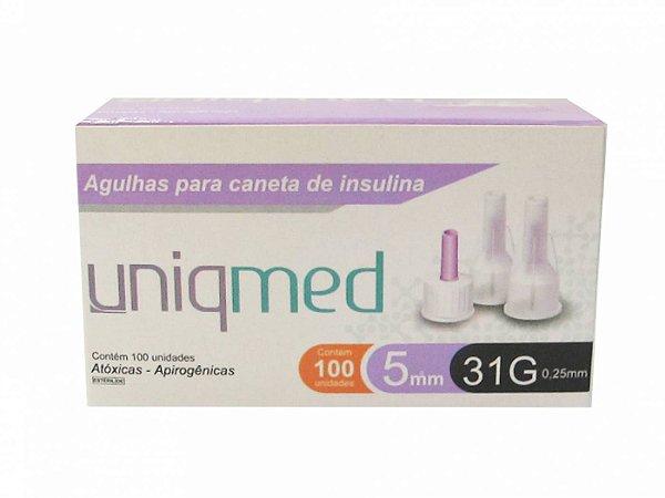 Agulha para Caneta de Insulina 5mm - Uniqmed