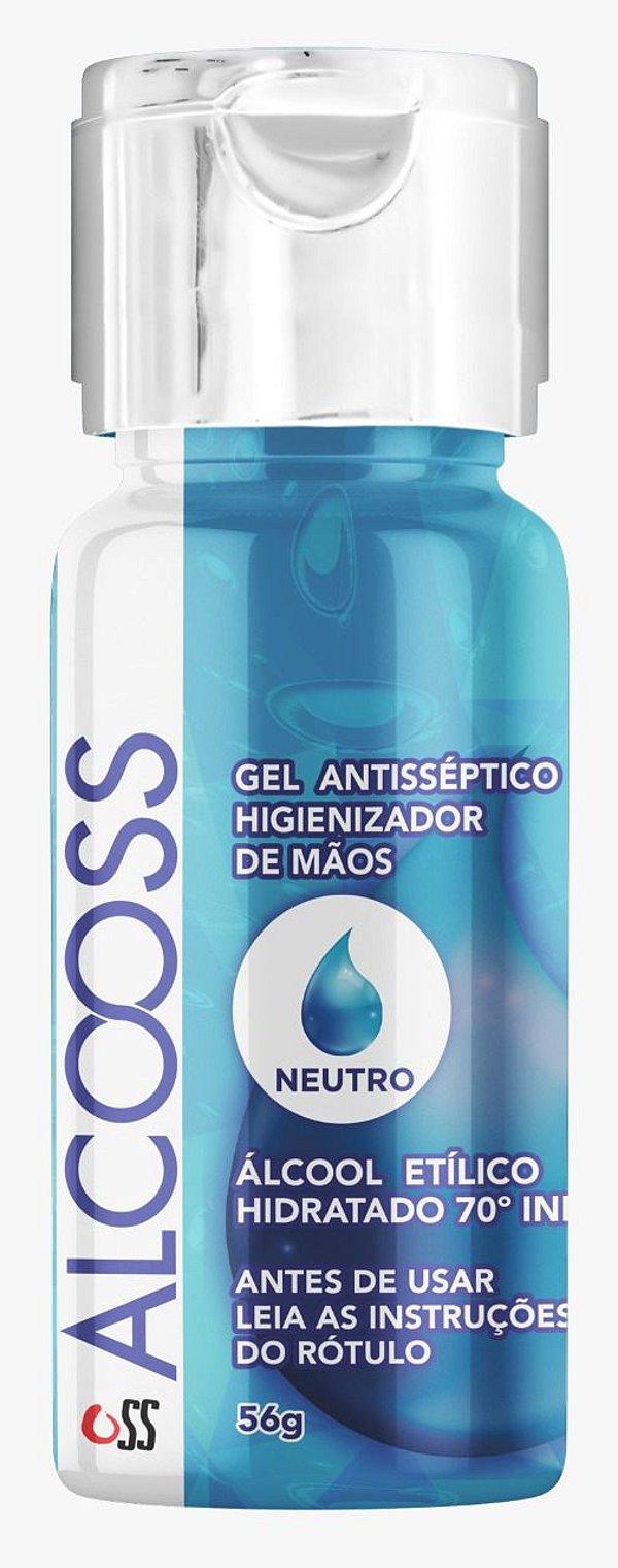 Álcool em gel anti-séptico 56g Cx c/ 60 unds - OSS