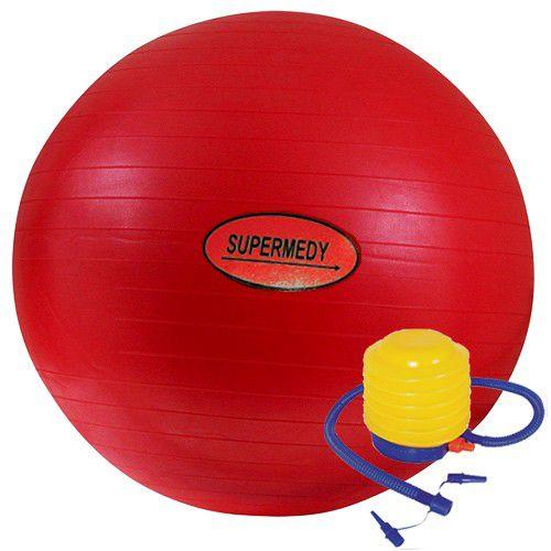 Bola de ginástica 45cm com bomba para inflar - Supermedy