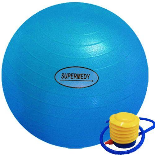 Bola de ginástica 65cm com bomba para inflar - Supermedy