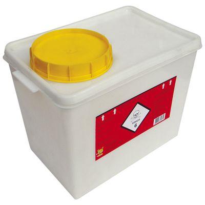 Coletor Plástico Quimioterápico 7 Litros - Descarpack