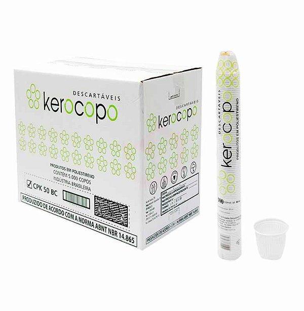 Copo Branco 50ml (50 pacotes x 100 unidades) - Ecocoppo