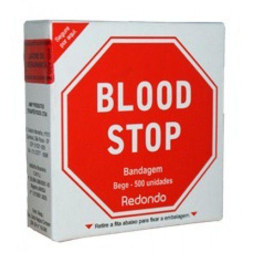 Curativo Blood Stop Redondo Pacote com 500 Unidades